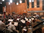 Gordon Goodwin gives notes to the Hollywood Studio Symphony