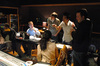 Hyesu Yang, Mike Kramer,Brian Kim and Carter Bays discuss a cue