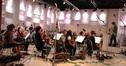 John Swihart conducts the orchestra