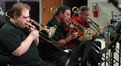 Bruce Otto, Alan Kaplan, and Bill Reichenbach on trombone
