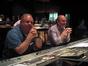 Stage engineer Bill Talbot and score mixer Armin Steiner listen to a cue