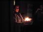 Stephanie Murray brings out Dan Wallin's birthday cake