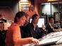Composer Klaus Badelt, director Wolfgang Petersen, mixer Joel Iwataki and recording engineer Tom Hardisty