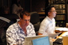 Music Editor Mike Flicker and ProTools Recordist Chuck Choi