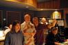 Concertmaster Joel Derouin, Composer George S. Clinton, Director Michael Lembeck, and Score Mixer Steve Kempster