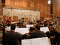 John Mauceri conducts at the Newman Scoring Stage
