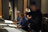 Orchestrator Tom Calderaro, conductor Jeff Schindler and composer Alex Wurman