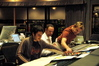 Scoring Assistant Adam Blau, Score Mixer Casey Stone, and Stage Recordist Adam Michalak