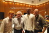 Co-director Matt Shumway, concertmaster Endre Granat, composer Jermaine Stegall, and co-director Jason Shumway