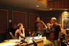 Brad Haehnel discusses a cue with Mychael and Jeff Danna as Anthony Hopkins observes