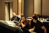 Danny Elfman discusses a cue with score mixer Ray Pyle