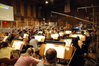 Lalo Schifrin dictates changes to the orchestra
