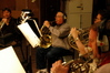 French horn players Rick Todd, David Duke, Brian O'Connor and Jim Thatcher