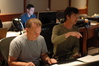 Orchestrator Dave Connor with composer Mike Andrews