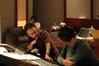 Director Jake Kasdan gives feedback to composer Michael Andrews