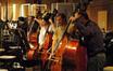 Mike Valario, Steve Dress, David Parmeter and Oscar Hidalgo on bass