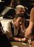 James Callis talks to a fan as Steve Bartek relaxes.