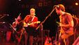 Paul Cartwright, Steve Bartek, and Brendan McCreary look cool on stage.