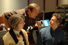 Orchestra contractor Peter Rotter discusses a cue with co-orchestrator and additional music composer, Karim Elmahmoudi.