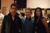 Actors Cameron Van Hoy (David) and Danielle Pollack (Fatima) with Karim Elmahmoudi (additional music, co-orchestrator).