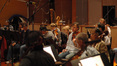 Members of the Hollywood Studio Symphony Orchestra string session during the recording of <i>David and Fatima</i>
