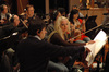 Members of the Hollywood Studio Symphony Orchestra string section during the recording of <i>David and Fatima</i>
