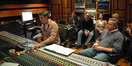 Scoring mixer Jim Hill and director Mark Herzog.  In the rear, editor John Campbell, and producer Chris Cowen with his wife