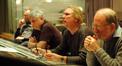 Disney Music Executive Chris Montan, orchestrator Dave Metzger, composer Mark Mancina and scoring mixer Armin Steiner