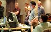 Orchestrator Dave Metzger, Adam Michalak, Marlon Esponino, Chuck Choi, Armin Steiner and Andrew Page