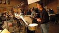 The percussion section
