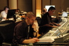 Composer Kevin Riepl with scoring mixer Steve Smith