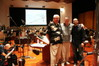 Conductor/orchestrator Tim Simonec, scoring mixer Steve Smith and composer Kevin Riepl