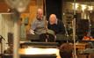 Conductor Jorge Del Barrio and copyist Ken Gruberman