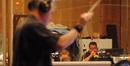 Rick Baptists blasts away on trumpet