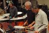 Percussionists Peter Limonick, Danny Greco and Bob Zimmitti