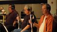 Trumpet players Rick Baptist, Malcolm McNab and Jon Lewis