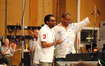 Director Spike Lee and composer Terence Blanchard thank the orchestra