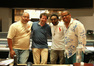 Music editor Marvin Morris, scoring mixer Frank Wolf, director Spike Lee and composer Terence Blanchard