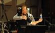 Contractor Peter Rotter hugs composer Jeanine Tesori