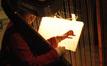 Gayle Levant plays harp on <i>Nim's Island