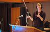 Jennifer Hammond conducts the orchestra