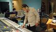 Scoring mixer Peter Cobbin checks a mix