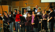 The choir on <i>Semi-Pro</i>