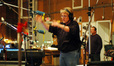 Pete Anthony conducts on <i>Semi-Pro</i> as contractor Peter Rotter looks on