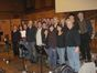 Theodore Shapiro, Kent Alterman and Pete Anthony with the choir