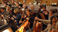 The cello section on <i>Space Chimps</i>