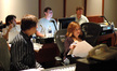 Scoring assistant Matt Lewkowicz, orchestrator Abe Libbos, ProTools recordist Ryan Robinson, composer Deborah Lurie and music editor Chris McGeary