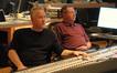 John Debney and scoring mixer Shawn Murphy listen to playback