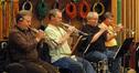 David Washburn, Jon Lewis, Malcolm McNab and Warren Luening play trumpets on <i>Starship Dave</i>