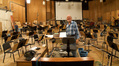 Armin Steiner on the Newman Scoring Stage